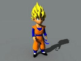 Son Goku 3d preview