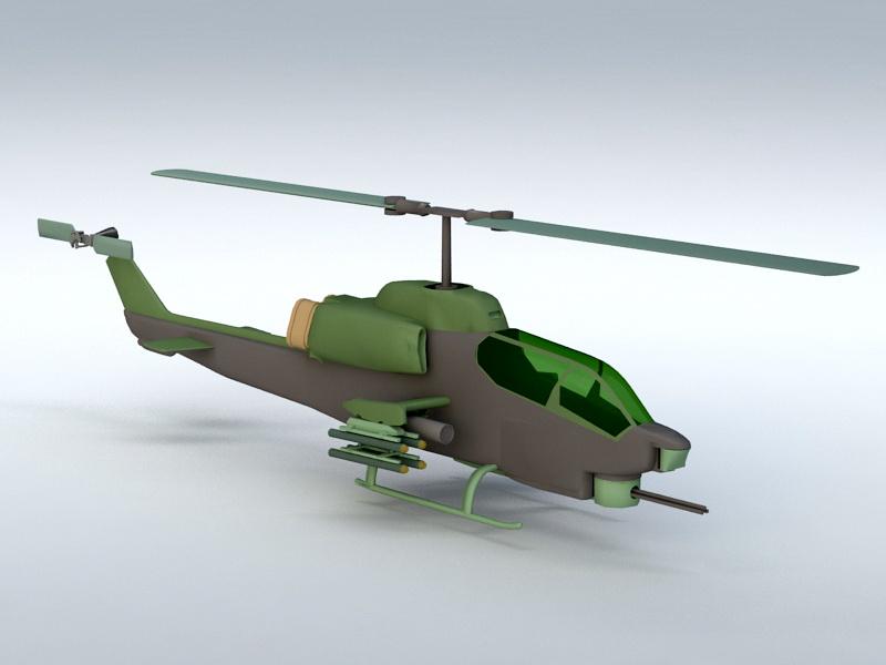AH-1 Cobra 3d rendering