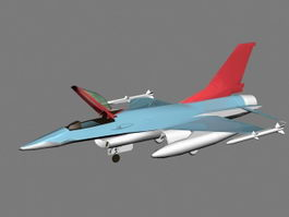 F-16 Fighter Aircraft 3d model preview