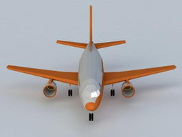 Commercial Airline 3d preview