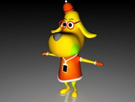 Dog Cartoon Character 3d preview