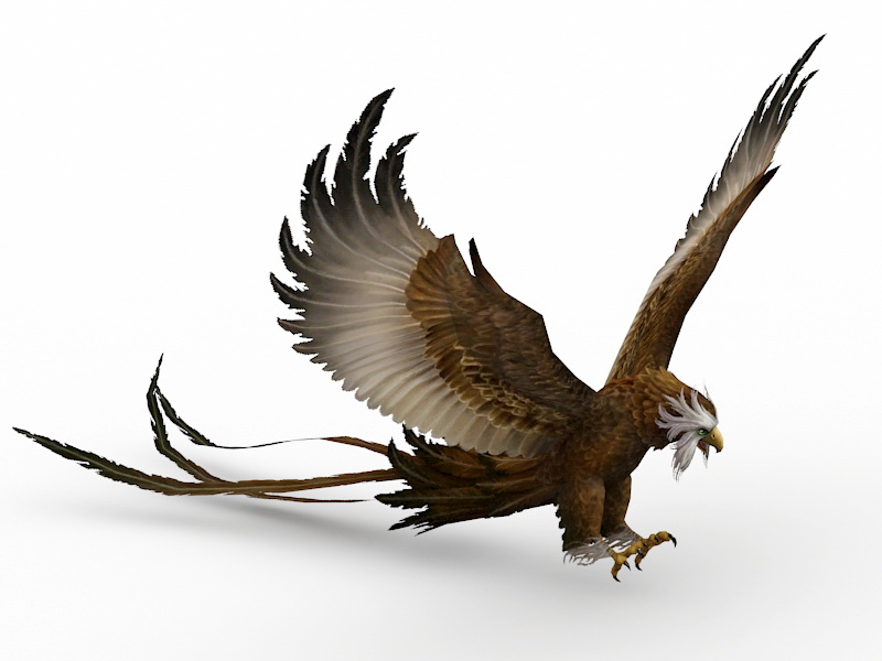 Long Tail Eagle 3d rendering