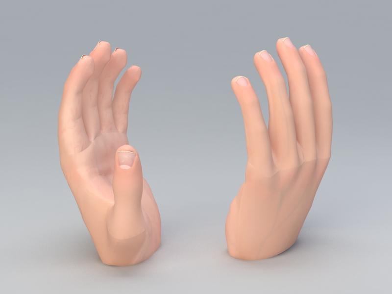 Left Hand 3d rendering