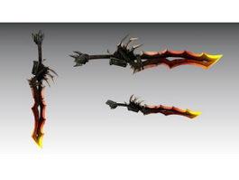 Fantasy Sword 3d model preview