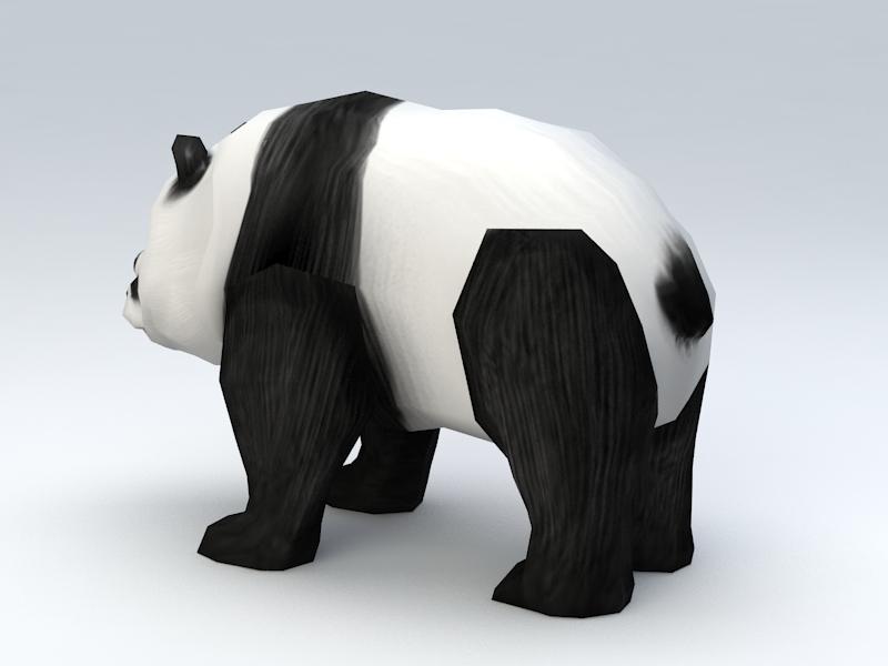 Low Poly Panda 3d rendering