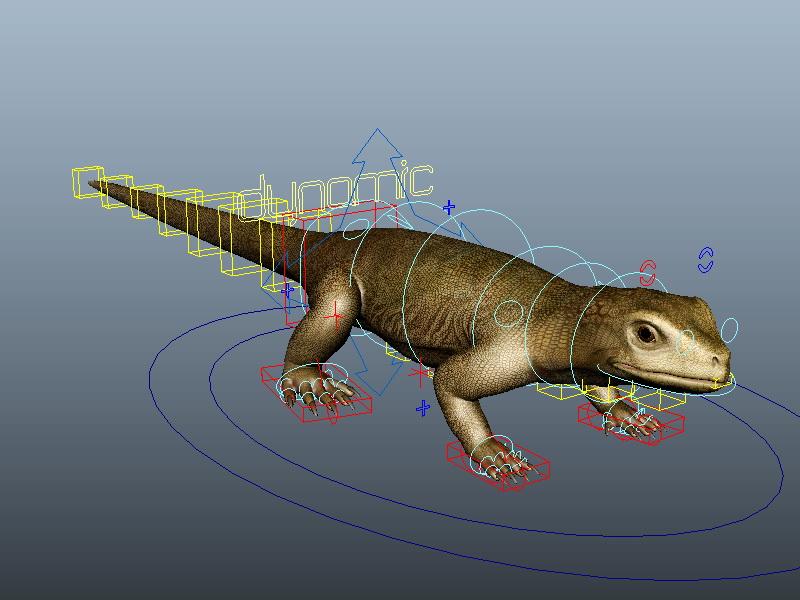 Realistic Lizard Rig 3d rendering