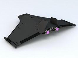 SciFi Space Superiority Fighter 3D Model