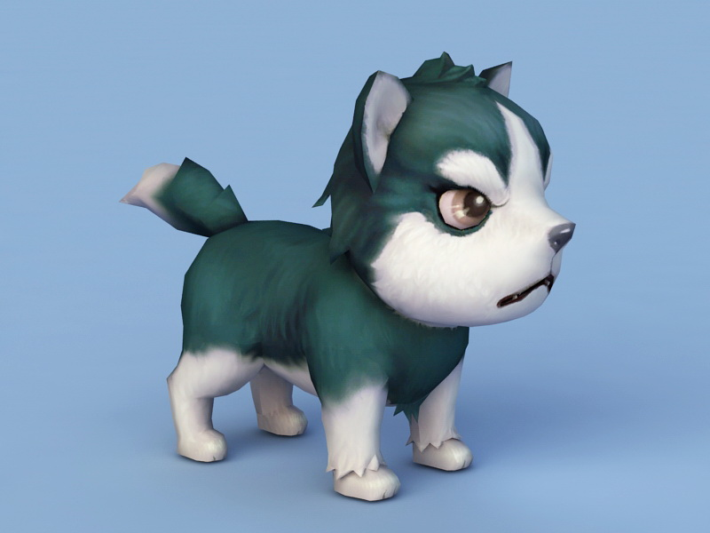 Sad Puppy Cartoon 3d rendering
