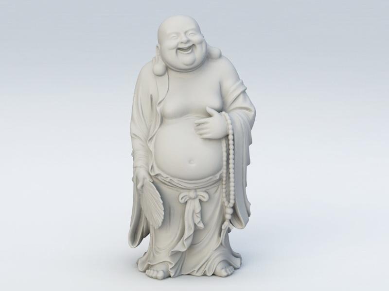 Buddha Figure 3d rendering