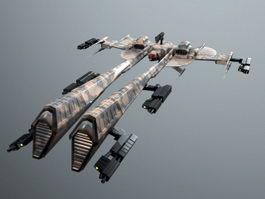 Eve Rifter Minmatar Frigate 3d model preview