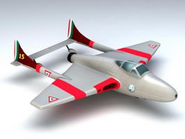 Vampire Fighter Aircraft 3d model preview