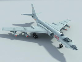 Chinese H-6 Jet Bomber 3d model preview