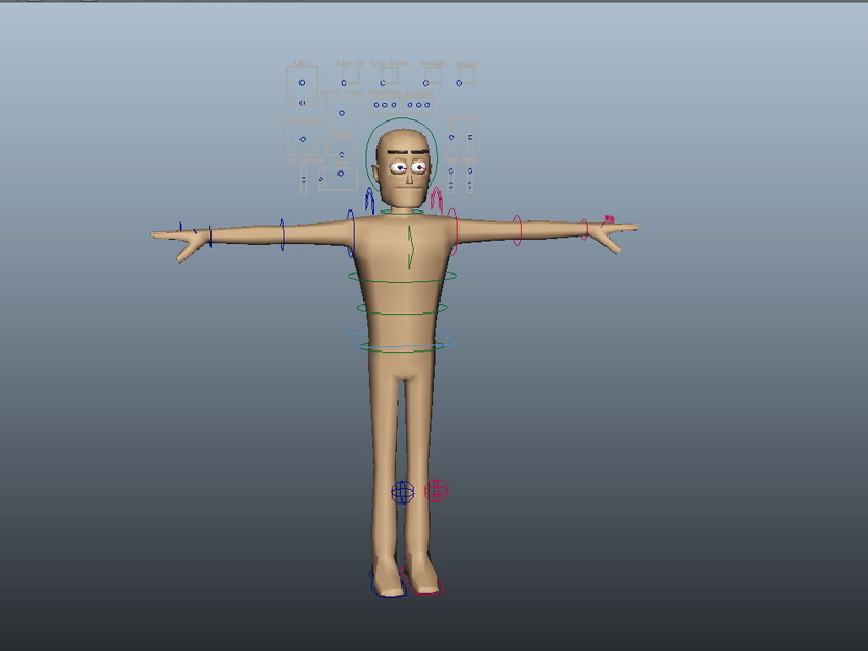 Basic Person Rig 3d rendering