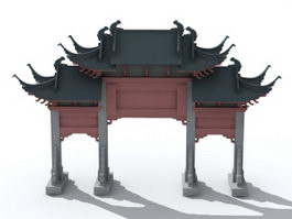 China Gate 3d preview