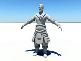 Ancient Chinese Warrior 3d preview