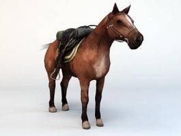 Horse with Saddle 3d preview