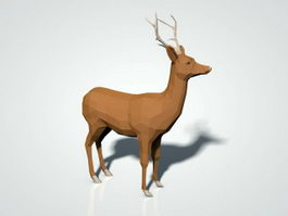 Low Poly Deer 3d preview