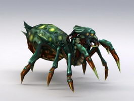 Low Poly Spider Monster 3d preview