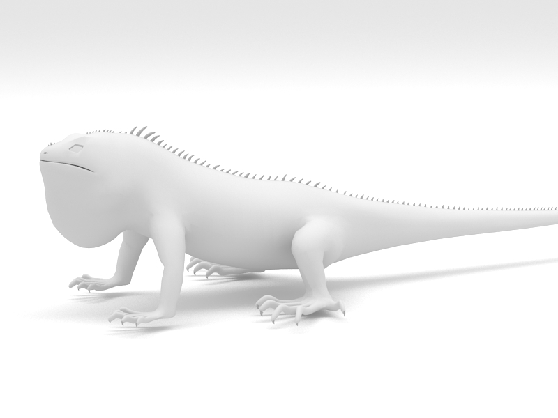 Big Lizard 3d rendering