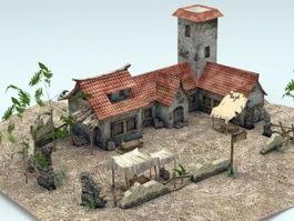 Asian Farmhouse 3d preview