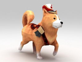 Low Poly Dog 3d preview