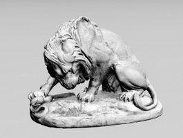 Lion Sculpture 3d preview