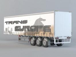 Horse Transport Trailer 3d preview