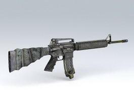 M16 A4 Assault Rifle 3d preview