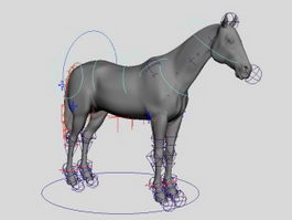Horse Rig 3d preview
