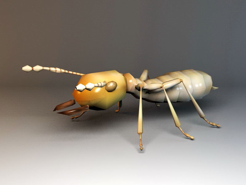 Animated Ant Rig 3d rendering