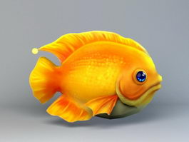 Low Poly Fish Cartoon 3d preview