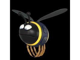 Cute Cartoon Bee 3d preview
