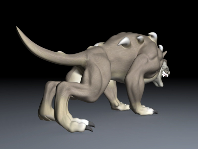 Chaos Wolf 3d rendering