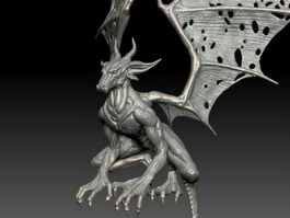 Dragon Sculpture 3d preview