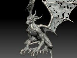 Dragon Sculpture 3d preview
