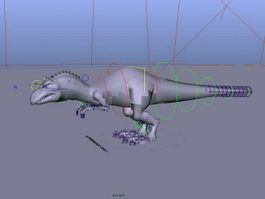 Momma Dinosaur Rig 3d preview