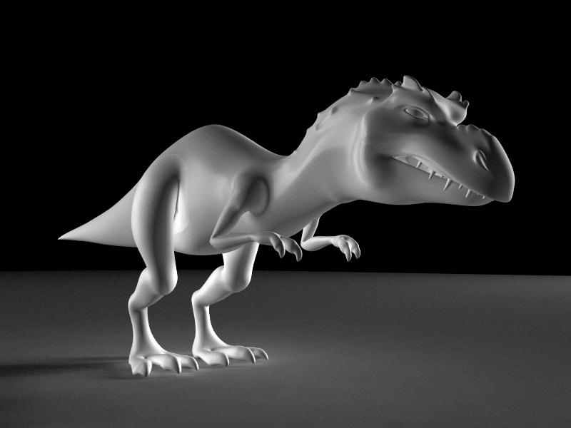 Momma Dinosaur Rig 3d rendering