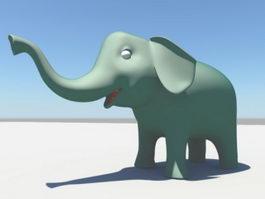 Cartoon Elephant 3d preview