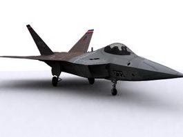 F-22 Raptor 3d model preview