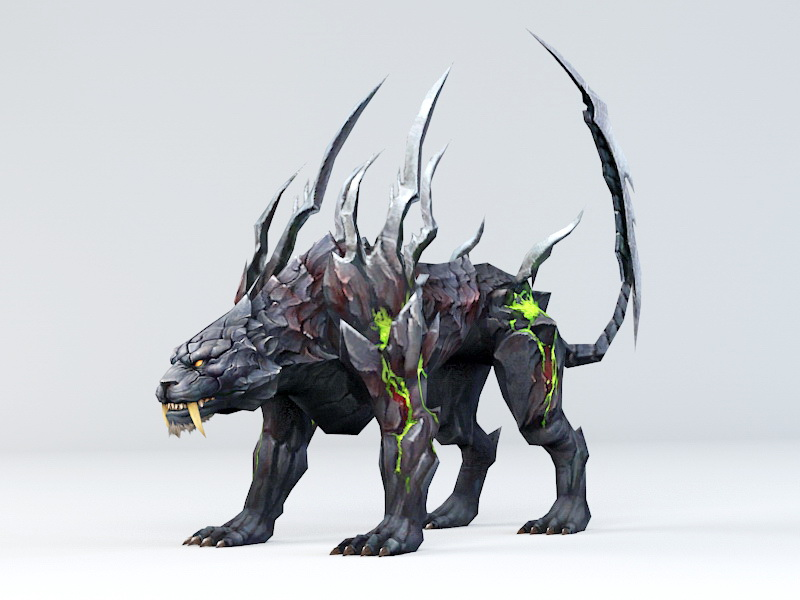 Demon Panther 3d rendering