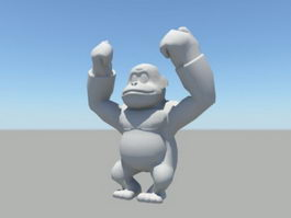 Gorilla Ape 3d preview