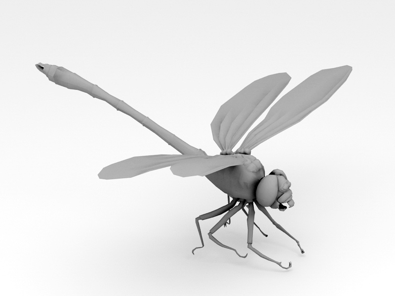 Dragonfly Insect 3d rendering