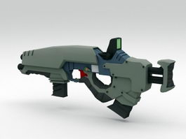 Sci-Fi Submachine Gun 3d preview