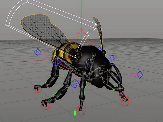 Honey Bee Rig 3d rendering