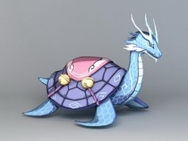Chinese Dragon Turtle 3d preview