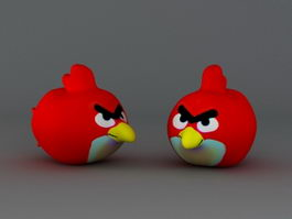 Angry Bird 3d model preview