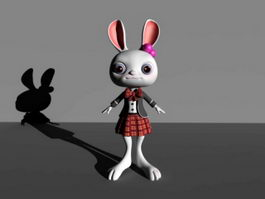 Bunny Girl Cartoon Animal 3d preview