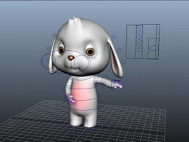 Cartoon Rabbit Character Rig 3d preview