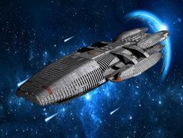Battlestar Galactica Ship 3d preview