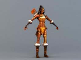 Female Amazon Archer 3d preview